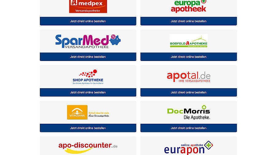 medpex versandapotheke online bestellen