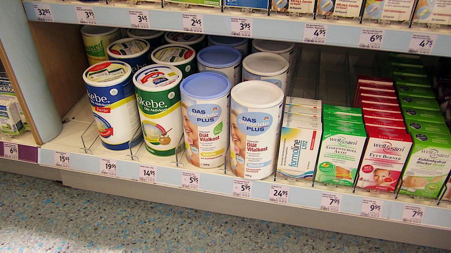 Produkte zur Gewichtsreduktion, die in ähnlichen Apotheken verkauft werden