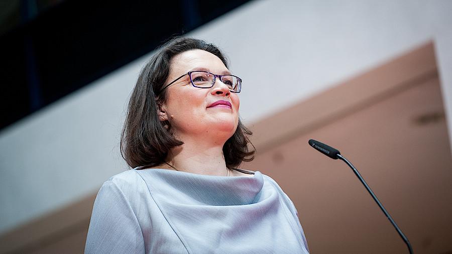 Andrea Nahles: SPD-Chefin giftet gegen Seehofer und Spahn