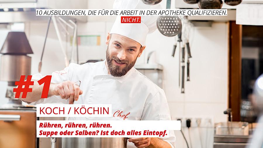 Zehn ersatz pta f r den notfall apotheke adhoc for Koch quereinsteiger