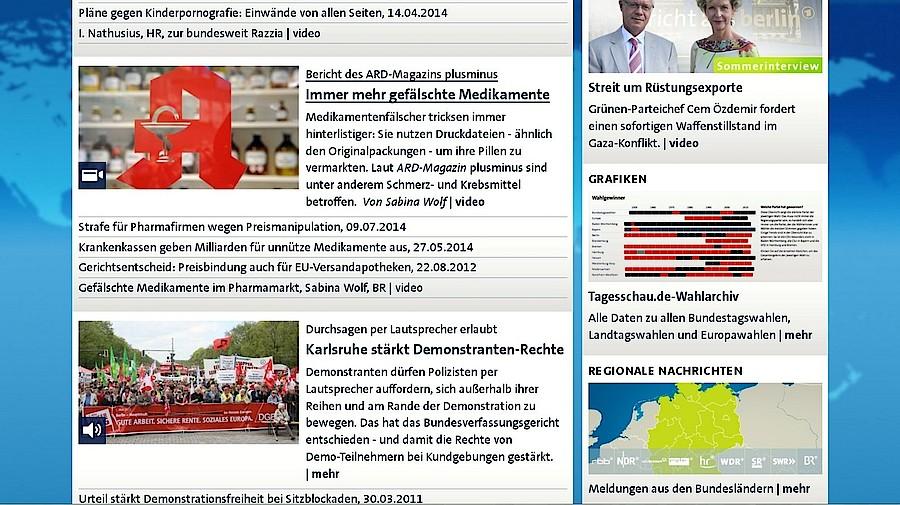 Tagesschau greift f lschungsskandal auf apotheke adhoc for Spiegel tv heute abend thema