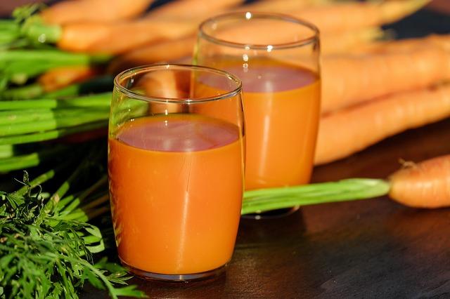 Karottensaft zur Gewichtsreduktion